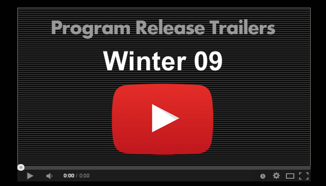 【Winter09】Program Release Trailers
