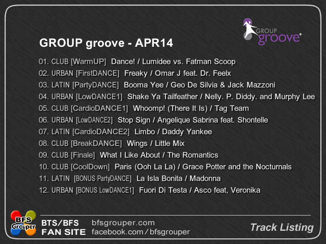 Traclist Apr14 GroupGroove