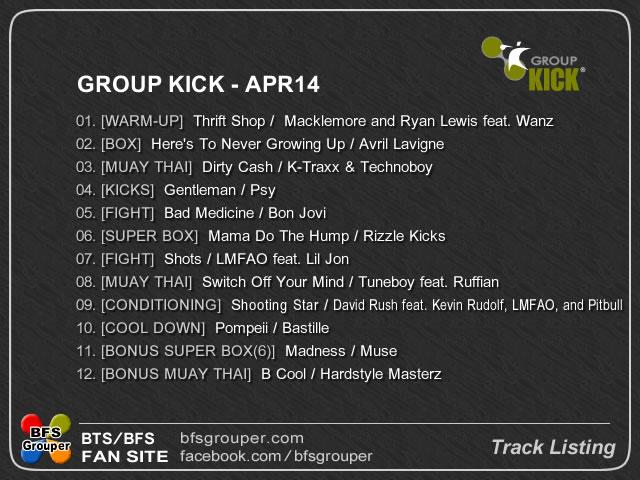 traclist Apr14 kick