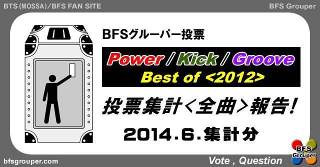 BFSグルーパー投票 Power/Kick/Groove Best of <2012> 全曲報告2014-06集計分