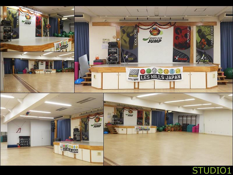 スポーツクラブジャンプ/スタジオ1はステージ仕様