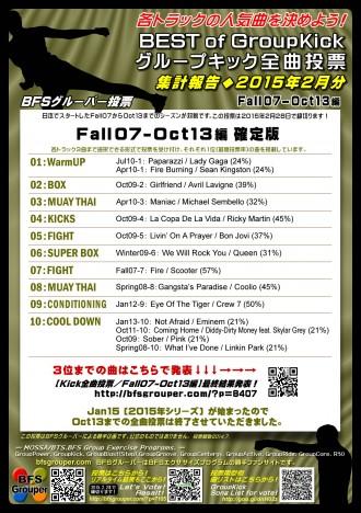 【Kick全曲投票/Fall07-Oct13編】最終結果