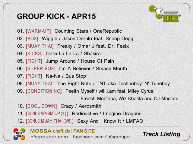 GroupKick【Apr15】曲リスト