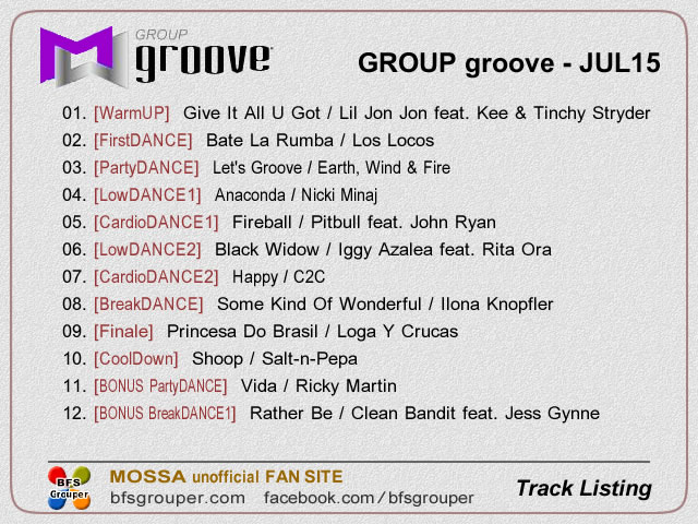 GroupGroove【Jul15】曲リスト