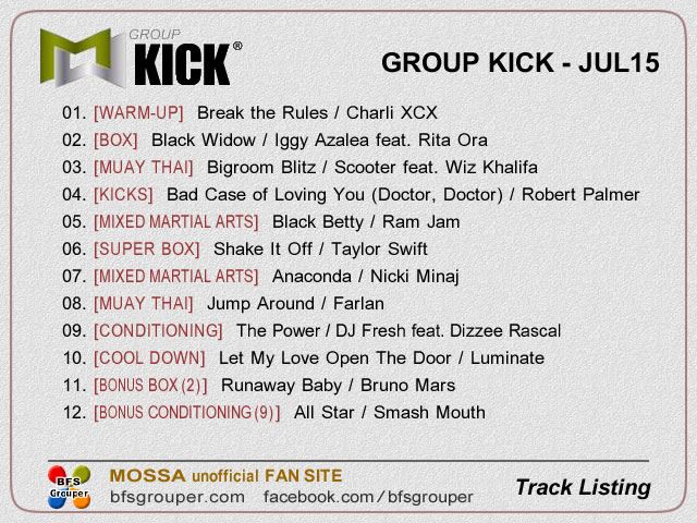 GroupKick【Jul15】曲リスト
