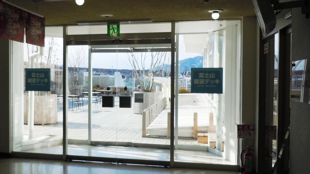 富士山展望デッキ入口