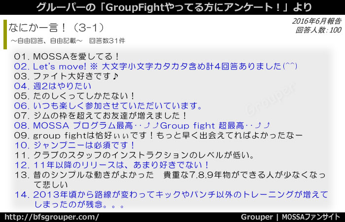 GroupFightアンケート最後になにか一言1
