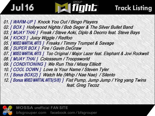 【Jul16/GroupFight】曲リスト【GroupKick】
