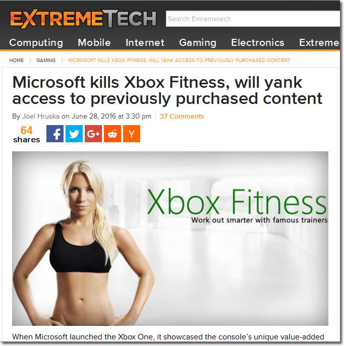 Microsoft kills Xbox Fitness