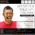 【YUYA】FOLEフィットネスクラブ20170717月【VPw/GP/GF】東京