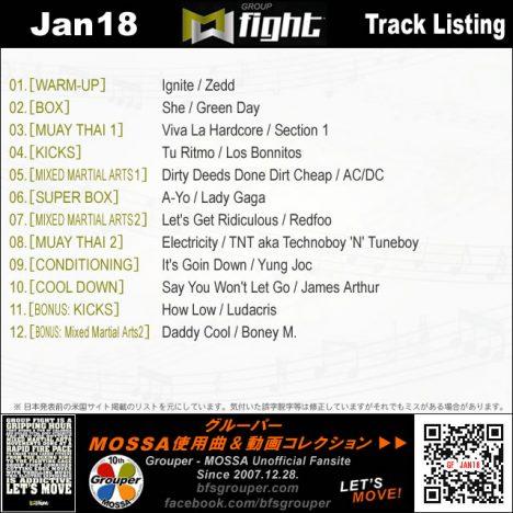 GroupFight【Jan18】曲リスト/元曲動画&試聴&曲購入