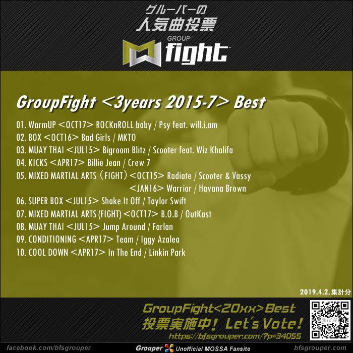 GroupFight<3years / 2015-17>ベスト発表!(2019.4.2.集計分)