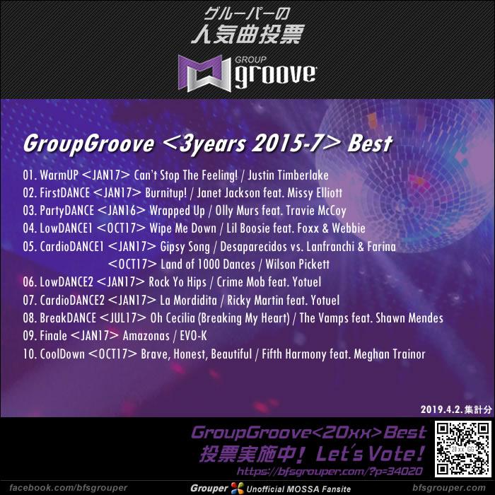 GroupGroove<3years / 2015-17>ベスト発表!(2019.4.2.集計分)