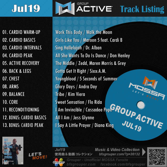 GroupActive【Jul19】曲リスト/元曲動画&試聴&曲購入