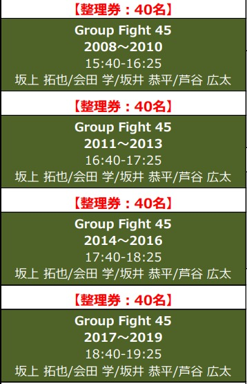History of Group Fight ~Group Fight の歴史~