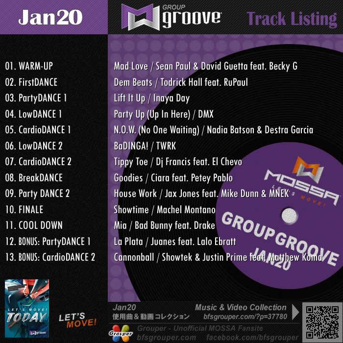 GroupGroove【Jan20】曲リスト/元曲動画&試聴&曲購入