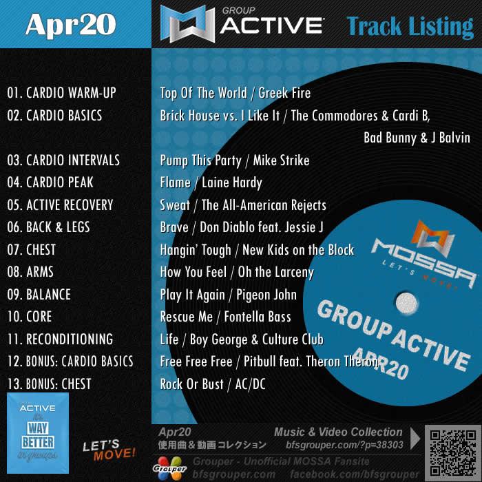GroupActive【Apr20】曲リスト/元曲動画&試聴&曲購入