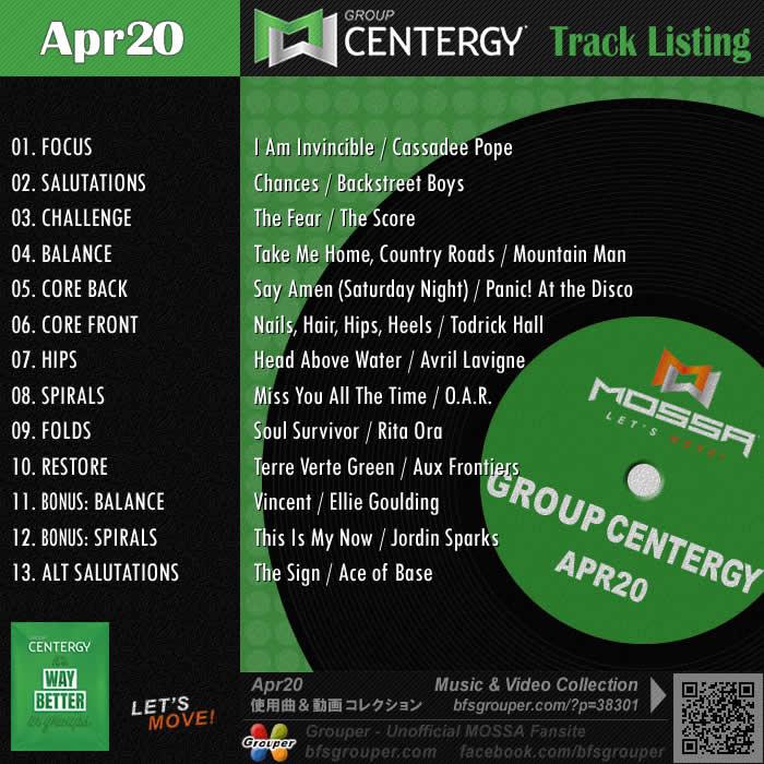 GroupCentergy【Apr20】曲リスト/元曲動画&試聴&曲購入