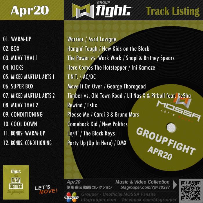 GroupFight【Apr20】曲リスト