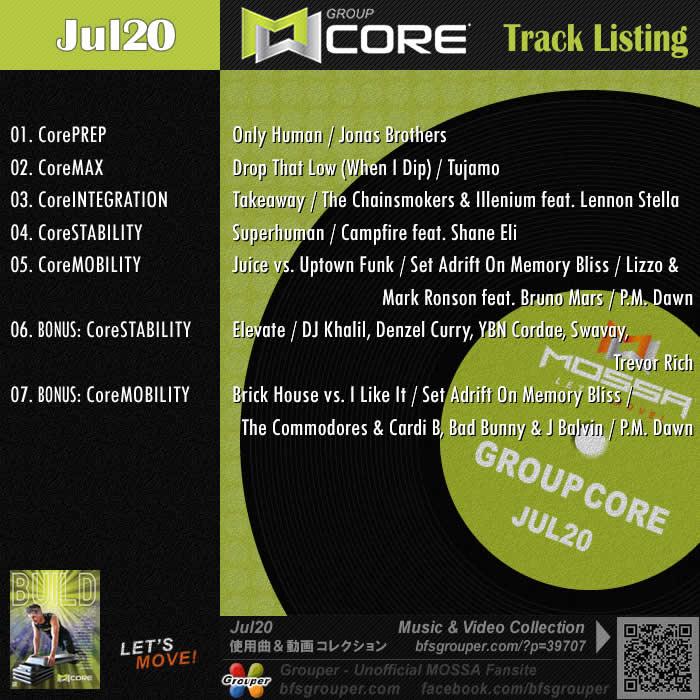 GroupCore【Jul20】曲リスト/元曲動画&試聴&曲購入