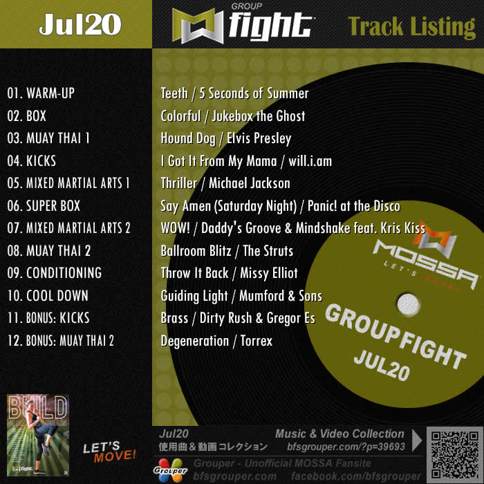 GroupFight【Jul20】曲リスト/元曲動画&試聴&曲購入