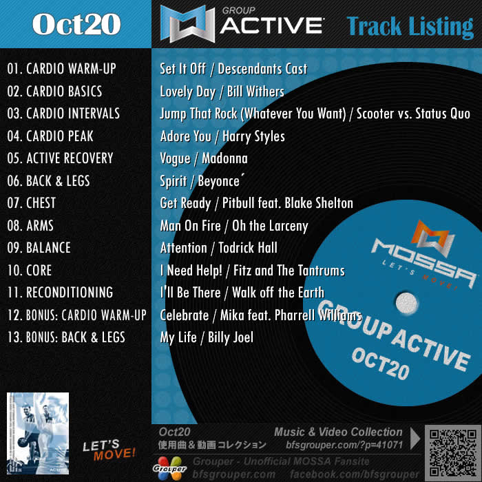 GroupActive【Oct20】曲リスト/元曲動画&試聴&曲購入